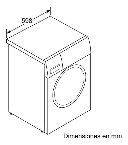 lavadora carga frontal blanco bosch lavarropas wan24260es