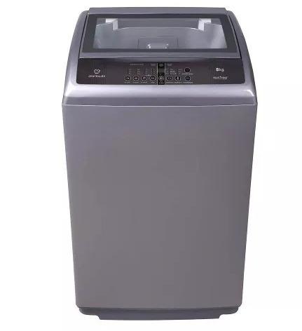 lavadora centrales automática digital de 8kg gris