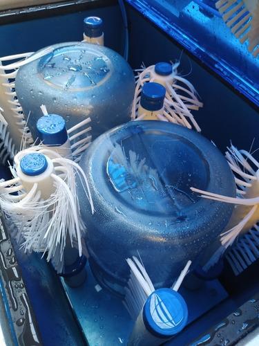 lavadora con cepillos de bidones retornables e insumos ind