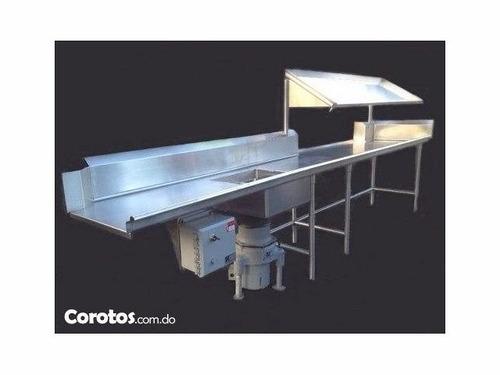 lavadora de platos industrial insinger - mesas y trituradora