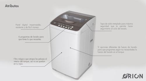 lavadora digital orion d0850 pl haceb 8,5 kg plata