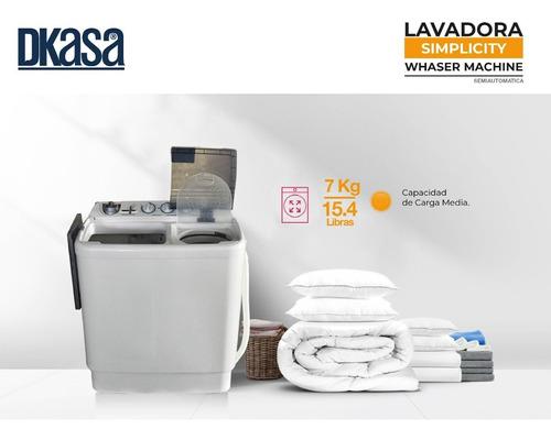 lavadora doble tina de 7 kilos dkasa
