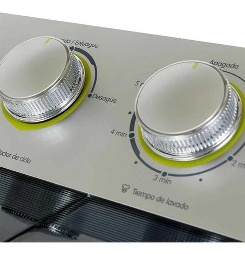 lavadora haceb sa0700 bl semiautomatica 15 lbs blanca 2 tina