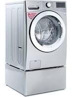 lavadora lg 22kg carga frontal silver