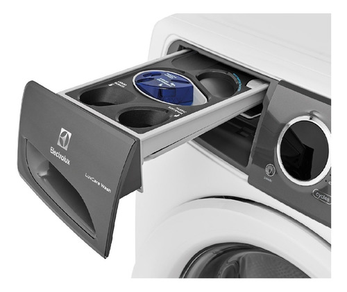 lavadora luxcare carga frontal electrolux eflw427uiw 18kg