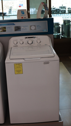 lavadora mabe 19 kg. automática. blanca con agitador