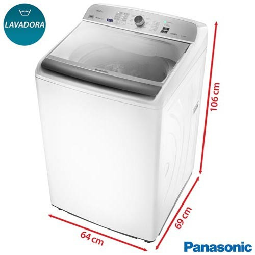 lavadora roupas panasonic 16kg branca 9 na-f160b5w