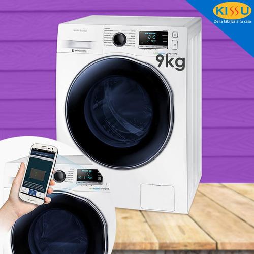 lavadora secadora samsung  9kg electrica inverter promo navi