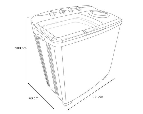 lavadora semi automamatica daewoo (dw-1201kp) nueva en caja
