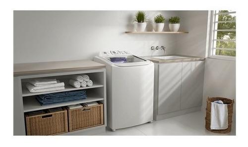 lavadora turbo branca capacidade premium/cesto inox (lpr17)