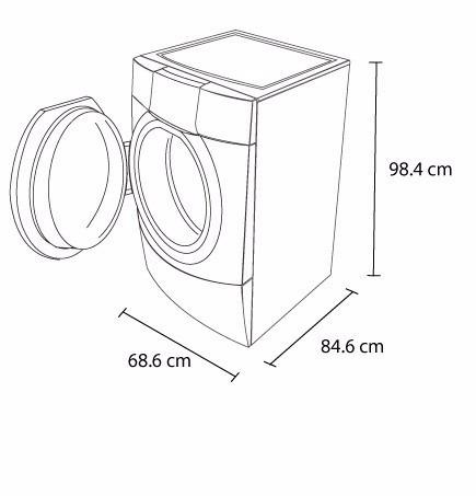 lavadora whirlpool carga frontal 20 kg