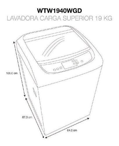 lavadora whirlpool gris 19kg 42lb filtro atrapapelusas nueva