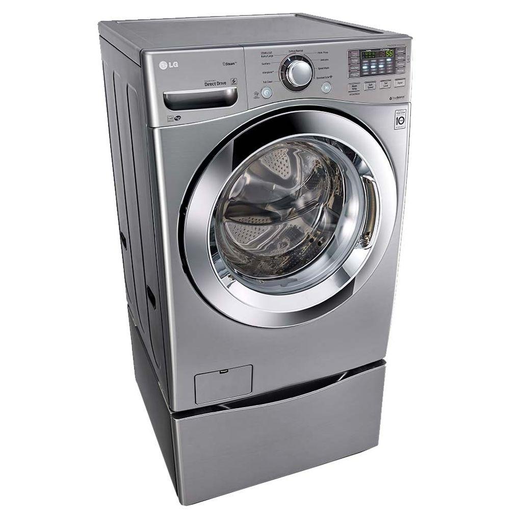 Lavadoras y secadoras lavadora lg 20kg carga frontal for Medidas de lavadoras