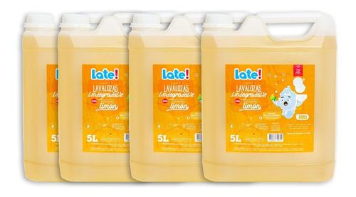 lavalozas late biodegradable 5 litros x 4u