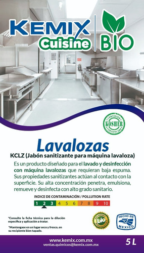 lavalozas triple acción biodegradable kosher 5l