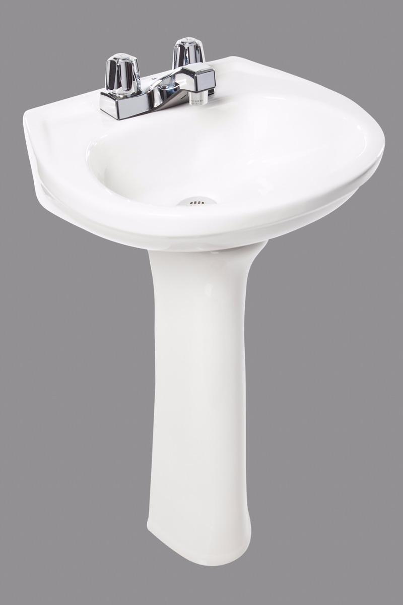 Lavamanos blanco ba o blanco empotrar y pedestal ceramica for Lavamanos con pedestal