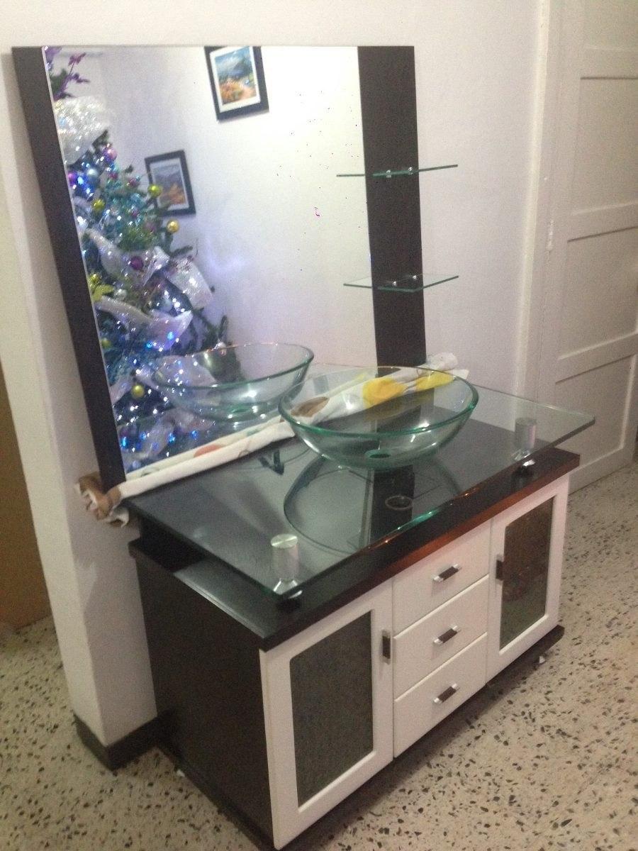 Lavamanos con gabinete moderno bs en for Lavamanos de cristal