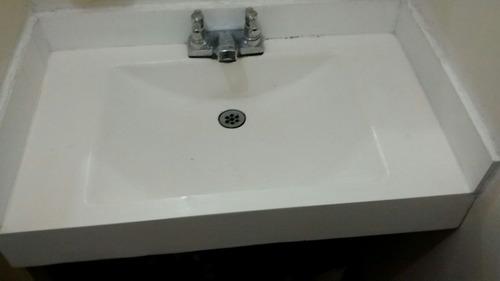 lavamanos, cubiertas, islas, barras auxiliares en policuarzo