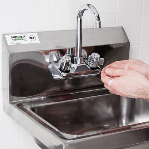 lavamanos de acero inoxidable  304 con llaves mescladoras