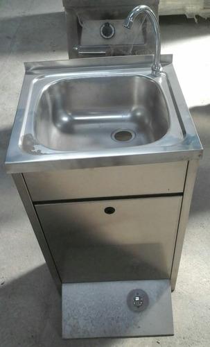 lavamanos de pedestal acero inoxidable