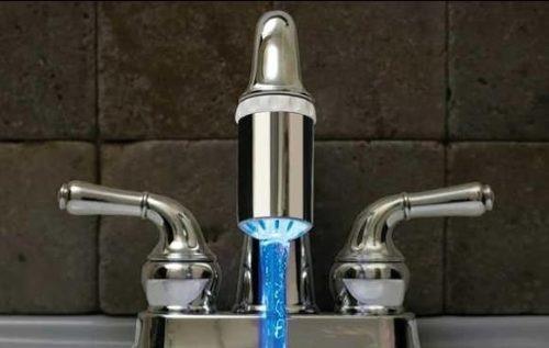 lavamanos iluminacion sensor d led para llaves grifos d casa with iluminacion led para casa