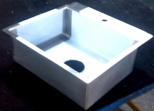 lavamanos, ponchera en acero 100% inoxidable para empotrar