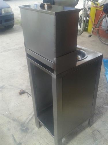 lavamanos portatil forrado en acero inoxidable cod. vg
