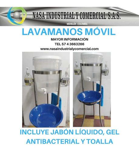 lavamanos portatiles y de pedal dispensadores de jabon y gel