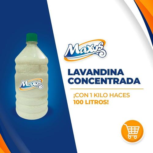 lavandina conc. para 500 litros- 5 botellas para 100 lts c/u