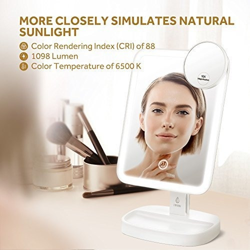 lavany lighted vanity mirror natural bright light makeup mir