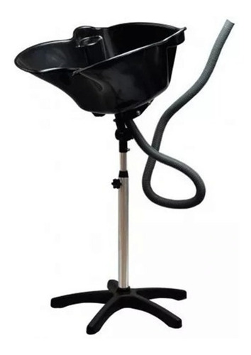 lavapelos / lavacabellos portatil de plastico negro 13011