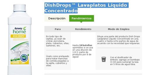 lavaplatos concentrado dish drops líquido