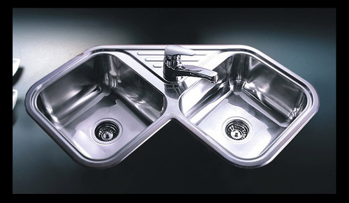 lavaplatos doble acero inoxidable esquinero axa d 78 a
