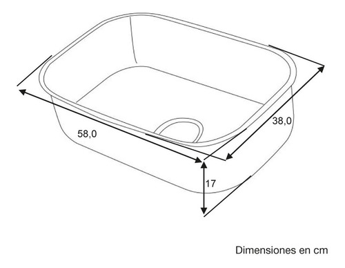 lavaplatos empotrable sencillo challenger lv3605