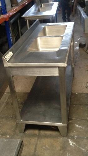 lavaplatos industrial de 2 pocetas