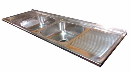 lavaplatos sobre acero inoxidable 180*50/ muebles sarmientos