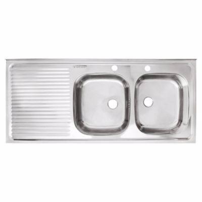 lavaplatos sobreponer  120*50 izq.der./ muebles sarmientos