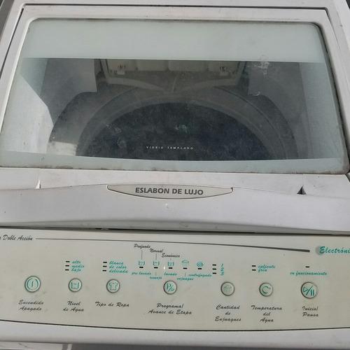 lavarropa eslabón de lujo - funciona con fallas / repuestos