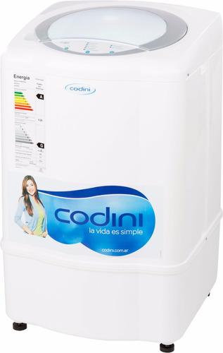 lavarropas automático codini 5 kg 600 rpm 5 prog clase a fac