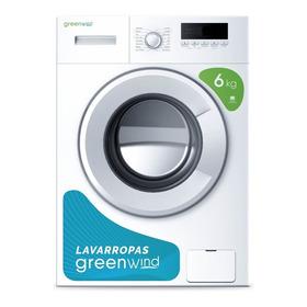 Lavarropas Automático Greenwind 6kg Carga Frontal Blanco