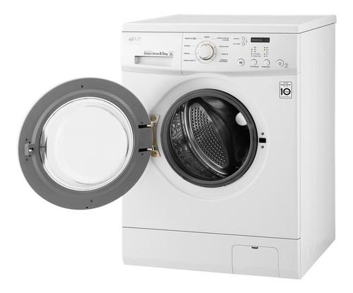 lavarropas automático lg wm85we6 bluewhite 8.5kg inverter ct