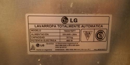lavarropas lg t9003 teft 9kg digital turbodrum