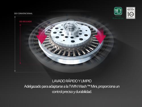 lavarropas lg twin wash mini wd100cv 3,5 kg carga superior