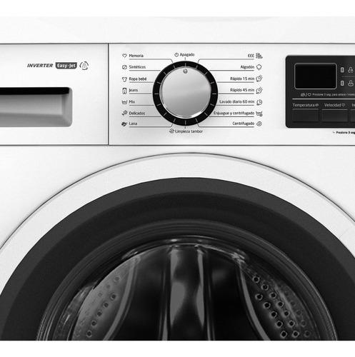 lavarropas midea carga frontal inverter blanco 10 kg 1400rpm