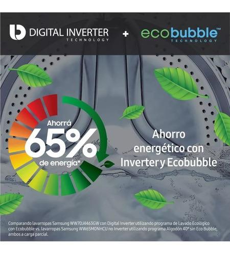 lavarropas samsung 7 kilos inverter 1400rpm 14prg eco bubble cuotas
