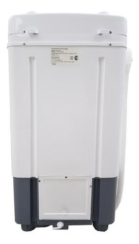 lavarropas semiautomatico kanji 6kg carga superior blanco