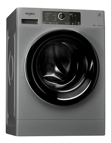 lavarropas whirlpool inverter silver wlcf90s 9kilos 1400rpm