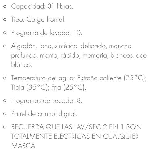 lavasecadora electrolux