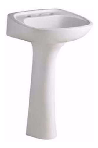 lavatorio con columna ferrum andina blanco 1 agujero lea1