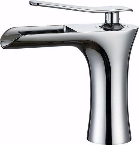 lavatorio monocomando moderno cascada baja cromo